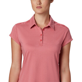 Columbia Peak To Point II Polo Femme, rouge pink heather